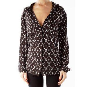 Cloth + Stone Black Star Print Button Down Shirt